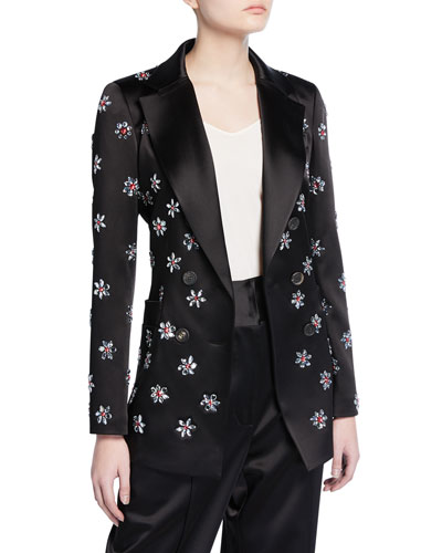 Embroidered Double-Breasted Jacket