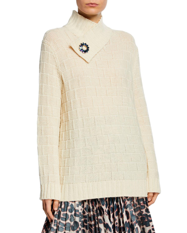 Calvin Klein 205w39nyc Sweaters WAFFLE-WEAVE CRISSCROSS SWEATER
