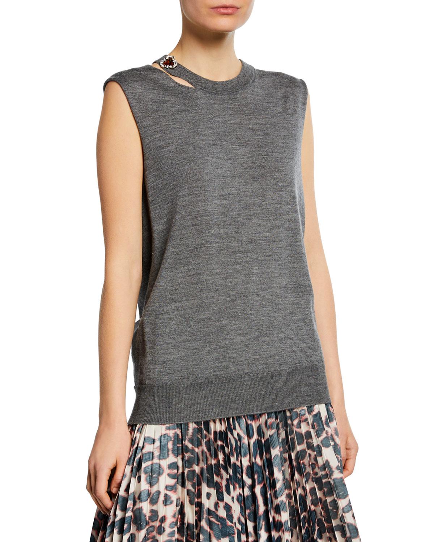 Calvin Klein 205w39nyc Sweaters SLEEVELESS SLASH-NECK SWEATER