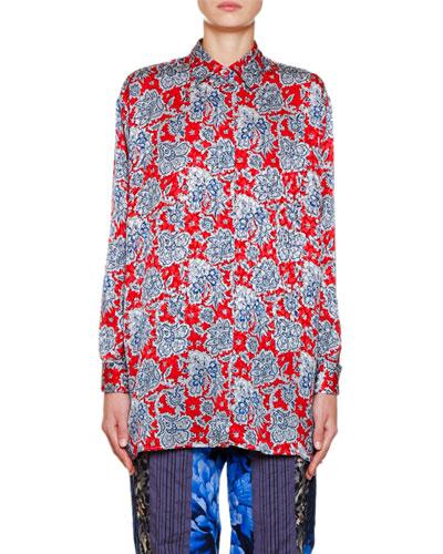 Bandana Print Silk Tunic