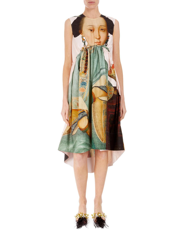 Simone Rocha Dresses SLEEVELESS ROUND-NECK EMPIRE WAIST DRESS