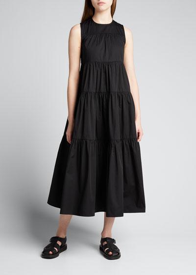 Sleeveless Tiered Cotton Dress