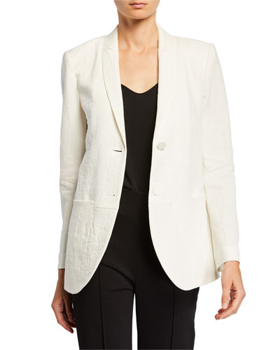 Linen & Flax Easy Two-Button Jacket