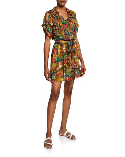 Riad Safari Tie-Waist Dress