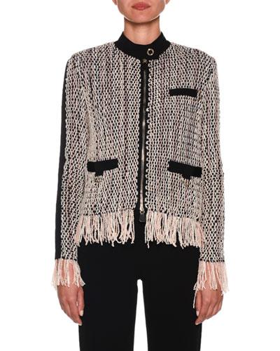 Zip-Front Woven Jacket