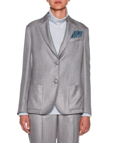 Melange Two-Button Blazer