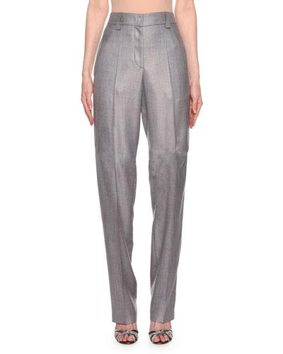 Zip-Front Classic Pants