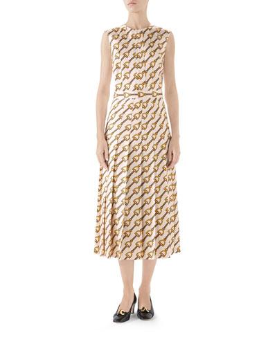 Italian Silk Print Dress  ce9fbb8d9