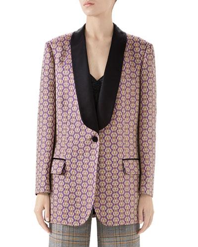 Ancient Oriental Geometric Jacquard Jacket