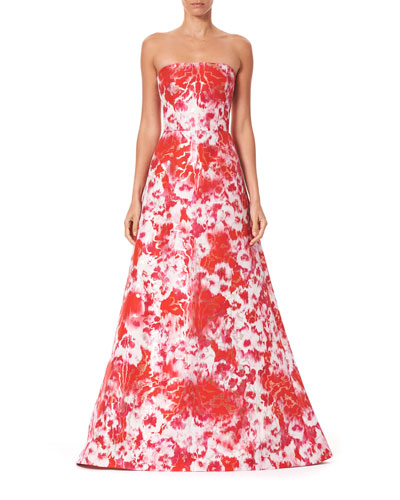Strapless A-Line Gown