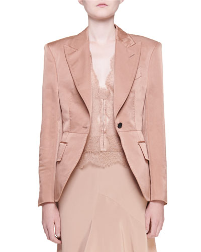 Shaped Sateen Blazer