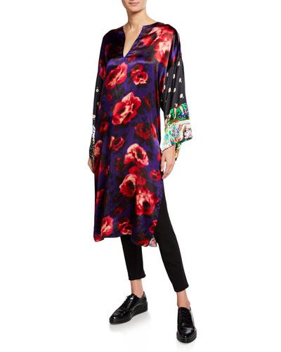 Multipattern Kimono Tunic