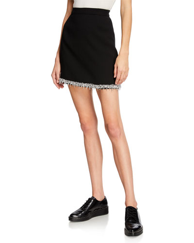 Beaded Trim Pencil Skirt
