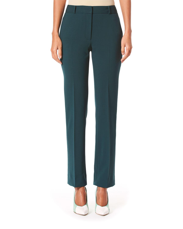 Carolina Herrera Suits MID RISE WOOL CREPE SUIT PANTS