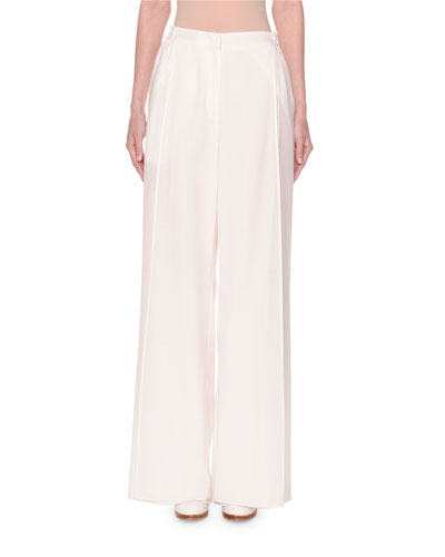 Wide-Leg Layered Voile Pants