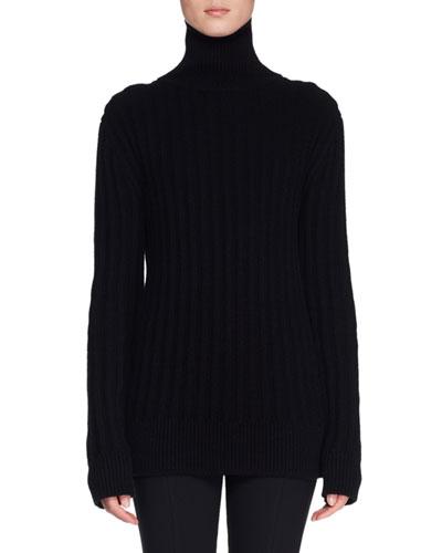 Marton Turtleneck Long-Sleeve Cashmere Sweater