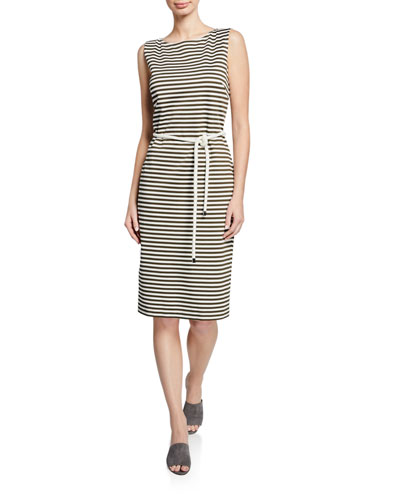 Comica Sleeveless Striped Jersey Dress