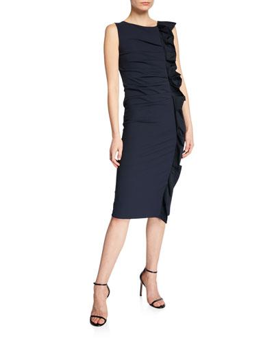 Cleo Ruffled Jersey Dress