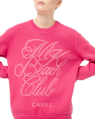 Cotton/Cashmere Capri Beach Club Sweatshirt