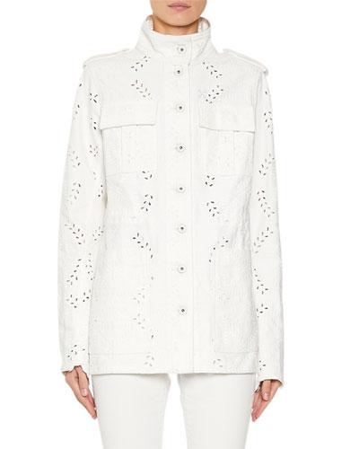 M65 Eyelet Embroidered Denim Jacket