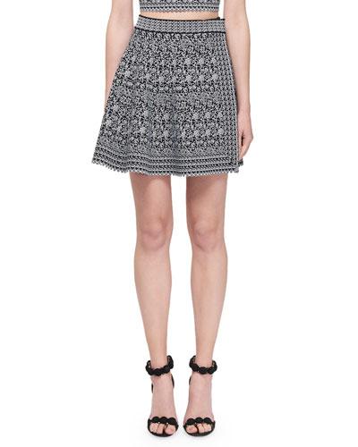 Labyrinth Intarsia Mini Skirt