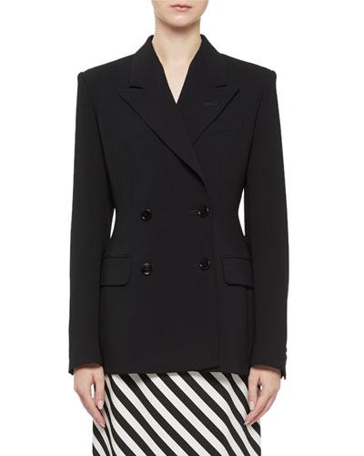 Barbina Seamed Double-Breasted Jacket