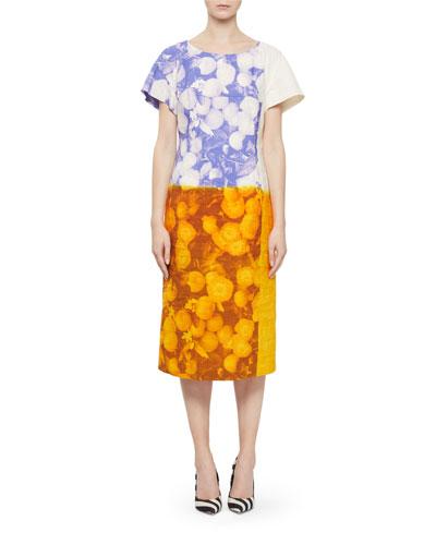 Della Floral Cotton/Linen Midi Dress