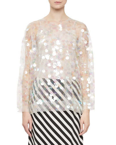 Clear Embellished Sweater