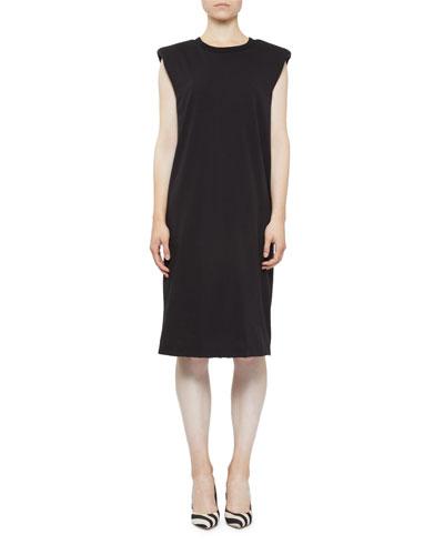 Cotton Cap-Sleeve Shift Dress