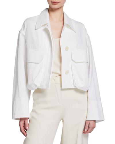 Garment Washed Crop Jacket