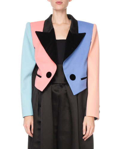 Colorblock Cropped Blazer