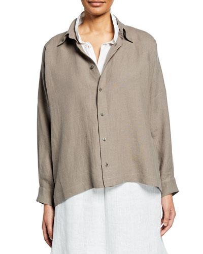 Wide Long-Back Shirt
