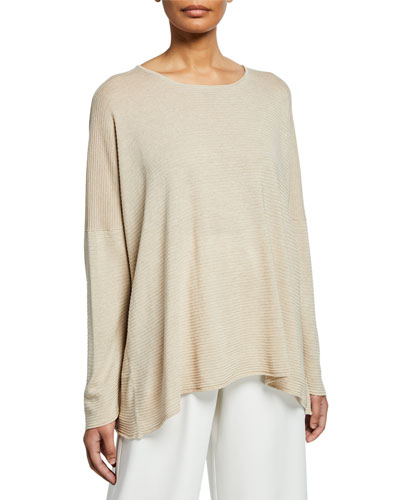 Ultra Lightweight Raw Edge Silk Sweater