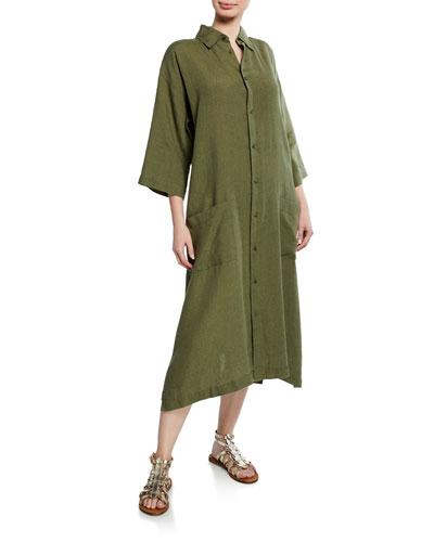 3/4 Sleeve Irish Lightweight Linen Shirt