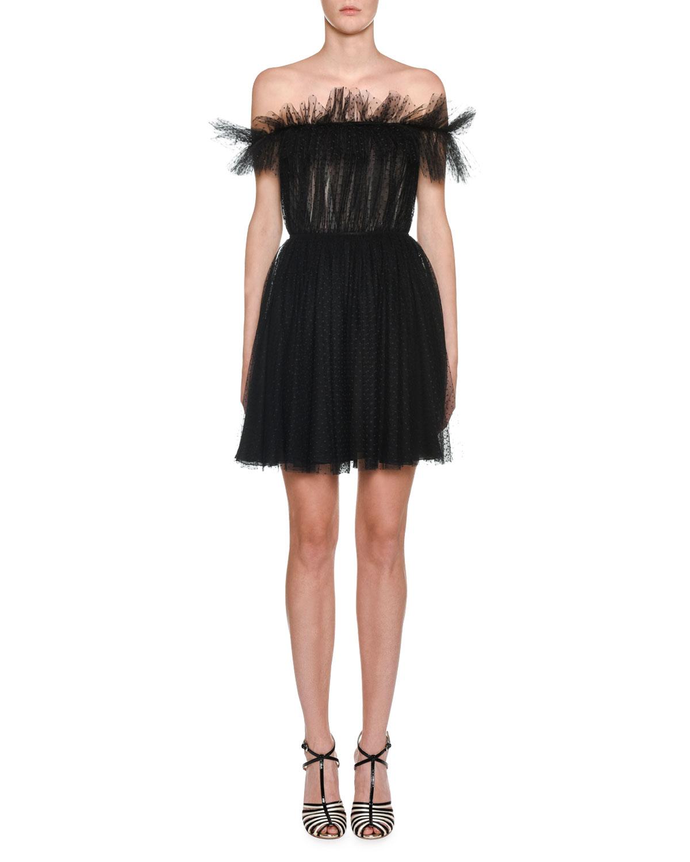 Giambattista Valli Dresses OFF-THE-SHOULDER RUFFLED ORGANZA DRESS