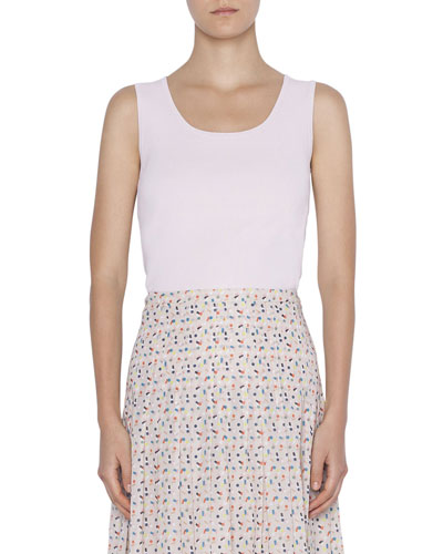 Sleeveless Fitted Knit Top