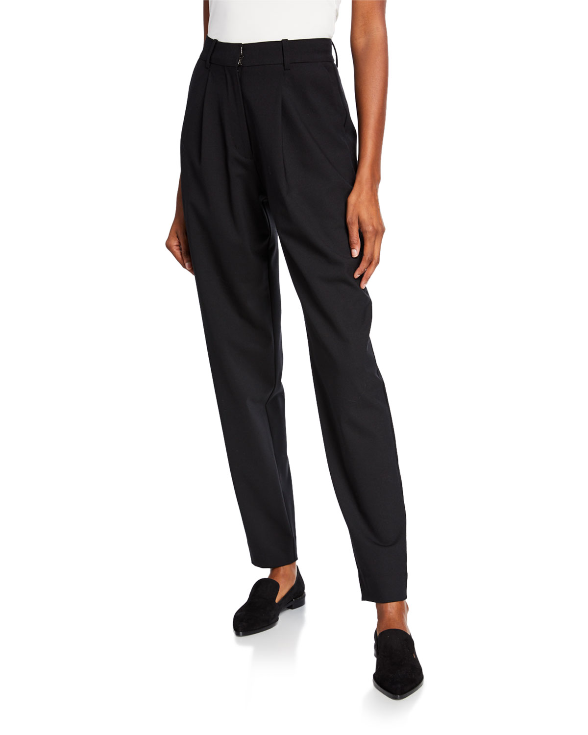 Co Pants PLEATED HIGH-RISE TROUSERS