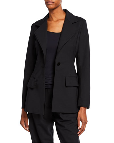 Fitted One-Button Blazer