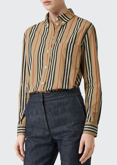 Guan Long-Sleeve Striped Shirt