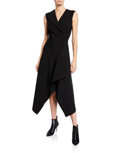 Folded Sail Sleeveless Dress