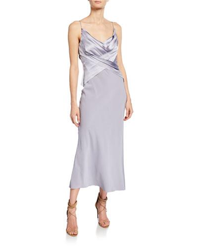 Bias Cut V-Neck Dress