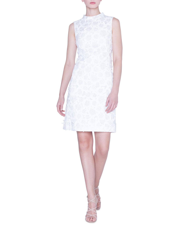 Akris Dresses MOCK-NECK FLOWER-JACQUARD DRESS