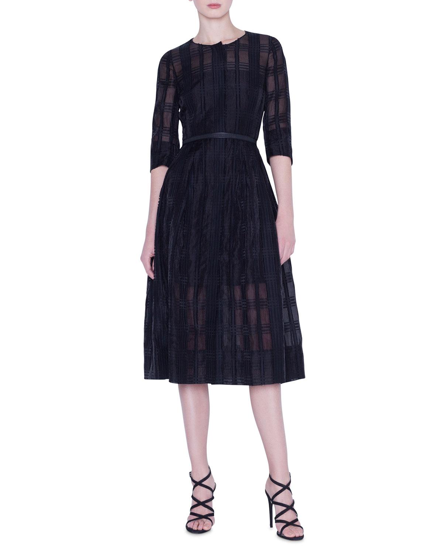 Akris Dresses ORGANZA CHECK DRESS