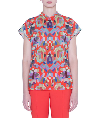 Summer Printed Voile Top
