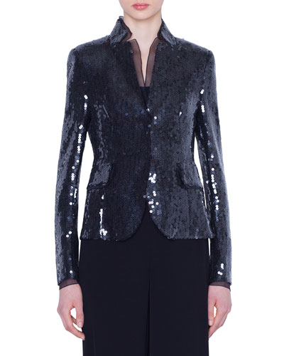 Sequined Short Jacket