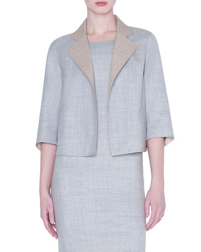 Clarice Wool-Silk Short Jacket