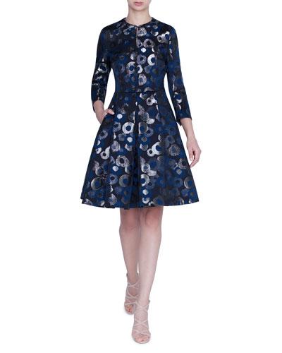 Shimmer Fil Coupe Coat Dress