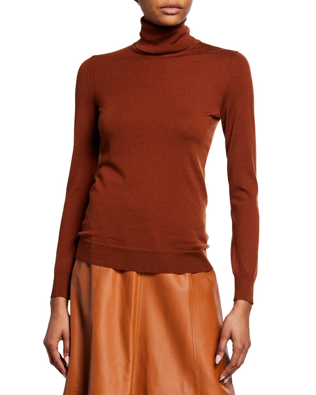 Loro Piana Sweaters CASHMERE-SILK MOCK-NECK 3/4-SLEEVE SWEATER