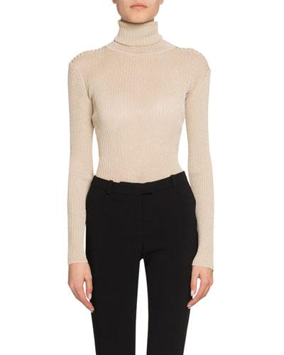 Shimmer Turtleneck Sweater