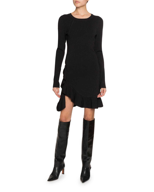 Altuzarra Dresses LONG-SLEEVE RUFFLED DRESS